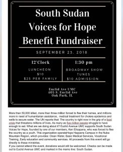 Places Near and Far: A Benefit Concert for Voices of South Sudan @ Euclid Avenue United Methodist Church | Oak Park | Illinois | United States